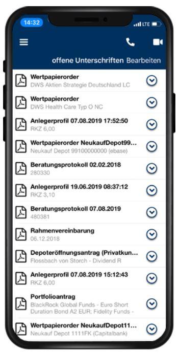 Finance App: Nachrichten/PushNachrichten Funktion